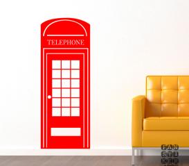 Стикер на стену Телефонная Будка Лондон
