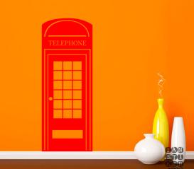 Наклейка на стену Телефонная Будка Лондон