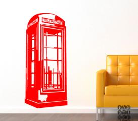 Наклейка Лондонская телефонная будка
