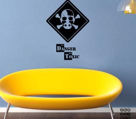 Стикер на стену Danger Toxic. Осторожно Токсично