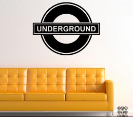 Наклейка Логотип Метро Лондона