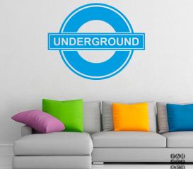 Наклейка на стену Логотип Метро Лондона