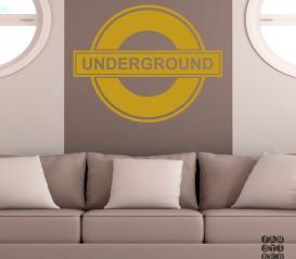 Стикер на стену Логотип Метро Лондона