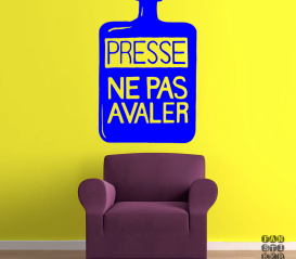 Интерьерная наклейка Радиохед Presse Ne Pas Avaler sticker