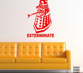 """Интерьерная наклейка Далек """"Exterminate"""""""