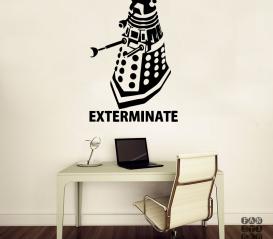 "Наклейка на стену Далек ""Exterminate"""