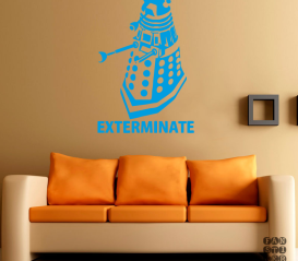 "Стикер на стену Далек ""Exterminate"""