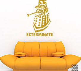 """Виниловый декоративный интерьерный стикер Далек """"Exterminate"""""""