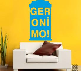 Наклейка на стену Джеронимо. Geronimo