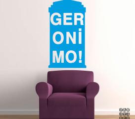 Виниловая декоративная интерьерная наклейка на стену Джеронимо. Geronimo