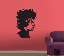 Декоративная наклейка Виниловая наклейка на стену Джимми Хендрикс