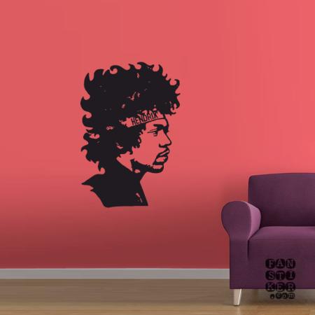 Виниловая наклейка на стену Джимми Хендрикс