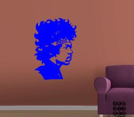 Стикер для декора Виниловая наклейка на стену Джимми Хендрикс