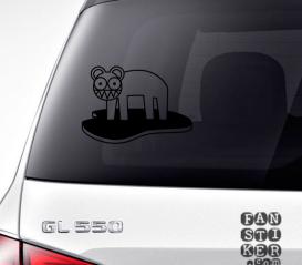 Наклейки на автомобили Радиохэд Кот Лого. Radiohead Cat Logo sticker