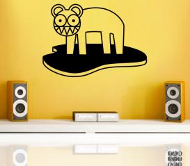 Наклейка для декора Радиохэд Кот Лого. Radiohead Cat Logo sticker