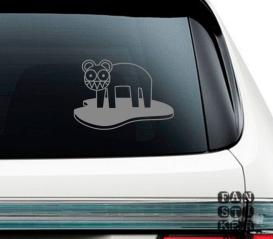 Наклейки на машины Радиохэд Кот Лого. Radiohead Cat Logo sticker