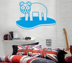 Виниловый декоративный интерьерный стикер Радиохэд Кот Лого. Radiohead Cat Logo sticker