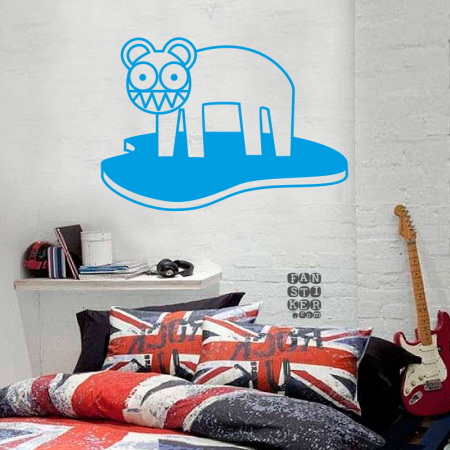 Радиохэд Кот Лого. Radiohead Cat Logo sticker