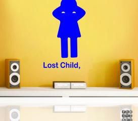 Принт Потеряное Дитя. Lost Child sticker