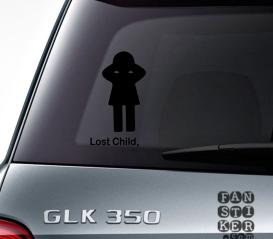 Наклейка на автомобиль Потеряное Дитя. Lost Child sticker