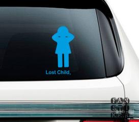 Наклейки на автомобили Потеряное Дитя. Lost Child sticker