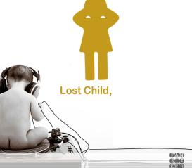 Наклейка для декора Потеряное Дитя. Lost Child sticker