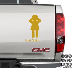 Виниловые стикеры на автомобили Потеряное Дитя. Lost Child sticker