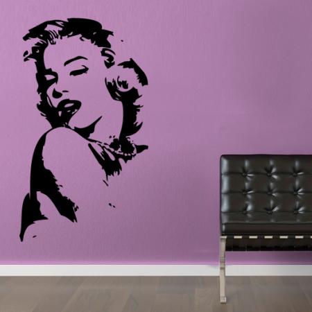 Виниловая наклейка на стену Мерлин Монро