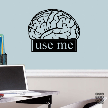 Мозг Предупреждает. Brain Warns sticker