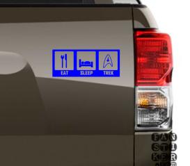 Стикеры на машины Ешь.Спи.Трек. Eat.Sleep.Trek sticker