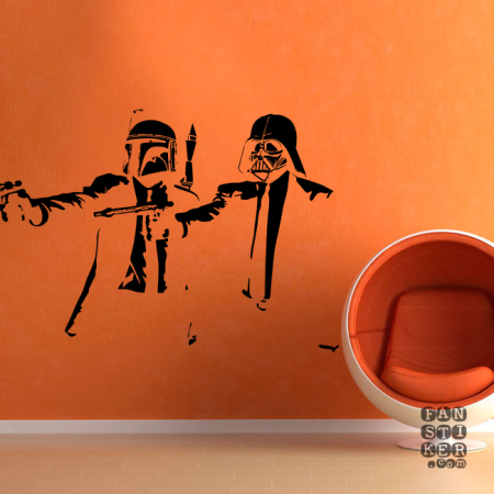 Наклейка на стену Star Wars — Pulp Fiction