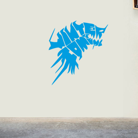 Наклейка на стену Зима Близко Игра Престолов