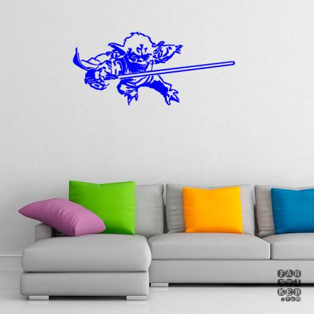 Виниловая наклейка Йода Джедай. Sticker Yoda Jedi
